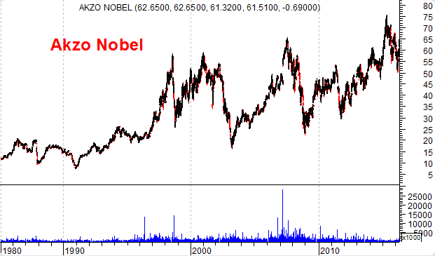 Akzo Nobel gráfico de longo prazo