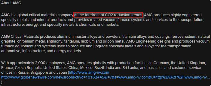 AMG setor de atividade da empresa