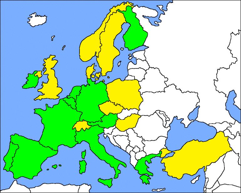 Cobertura da Degiro nas Bolsas Europeias nos países com o Euro