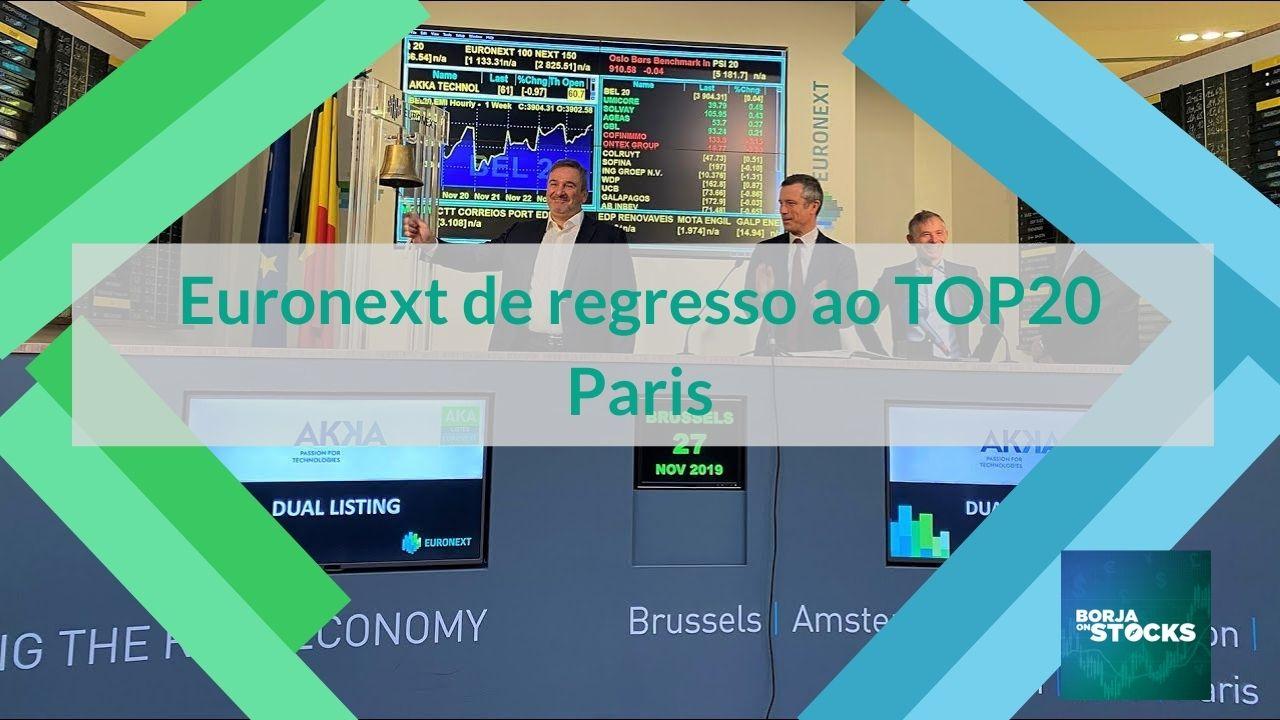 Euronext de regresso ao TOP20 Paris