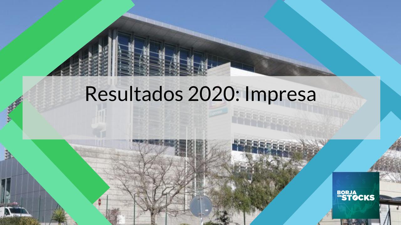 Análise aos resultados 2020 Impresa - Euronext Lisboa