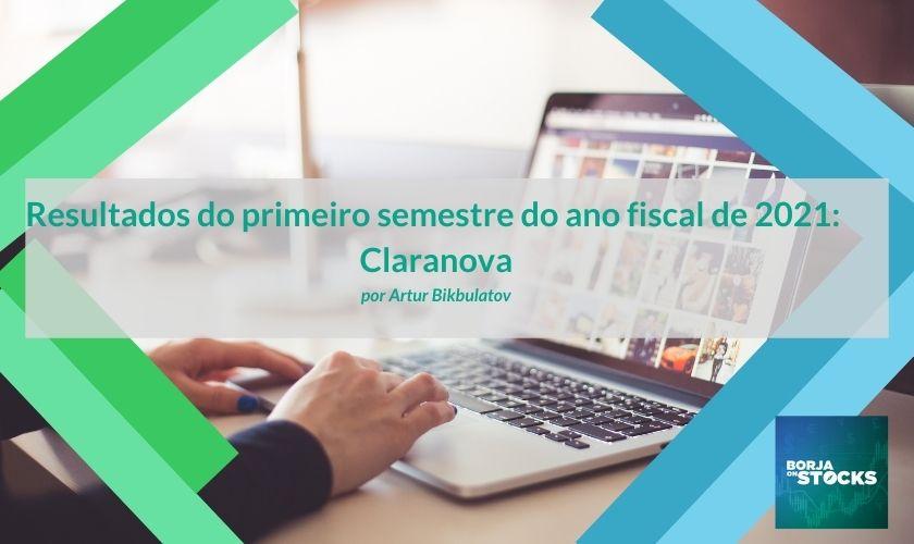 Resultados do primeiro semestre do ano fiscal de 2021: Claranova