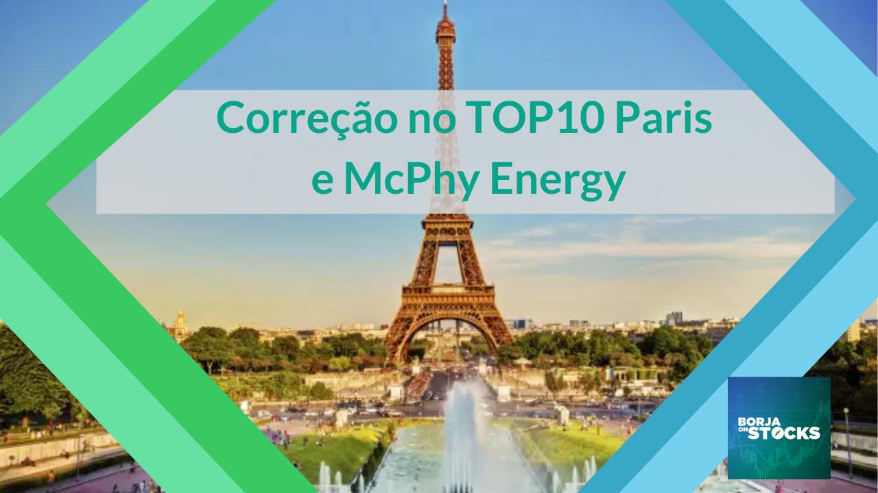 Correção no TOP10 Paris e McPhy Energy